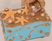 Decorative SeaShell Box For The Ocean or Sea Lover Ready To Ship