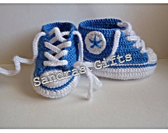 Baby Converse chucks inspired booties shoes 4 inch sole