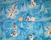 Olaf Cotton Fabric Frozen - FREE SHIPPING!