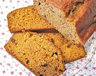 Fresh Homemade Pumpkin Bread Loaf