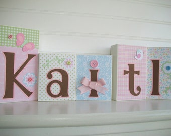 Personalized Letter Blocks . Toddler. Hayley Bedding . Name Blocks. Name Letters