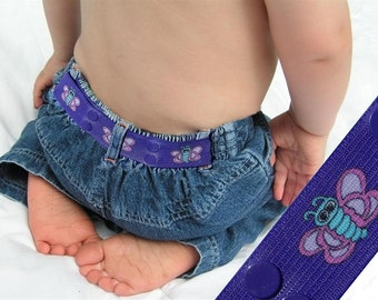 "Toddler Belt - Elastic Snap Belt - ""Butterfly"""