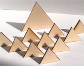 """25 Ct 1/2"""" Wood Triangles - Unfinished - for Charms, Crafts, Pendants, DIY Projects SH-306-.5"""
