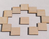 """6 Ct 4"""" Wood Squares - Unfinished - for Charms, Crafts, Pendants, DIY Projects SH-308-4"""