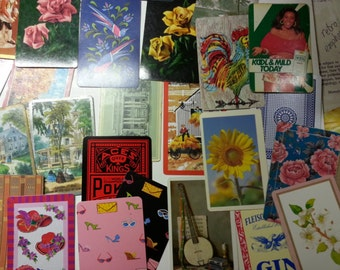 a bundle of 130 vintage mix playing cards for art projects cards for ATC playing cards art supplies for collage art vintage cards for ATCs
