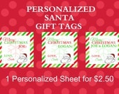PERSONALIZED Santa Gift Tags
