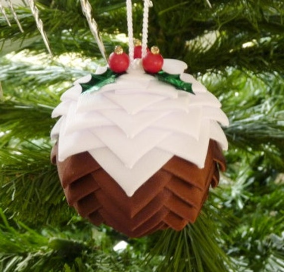 Christmas Pudding Decoration Ornament, Holiday Ornament, Home Decoration
