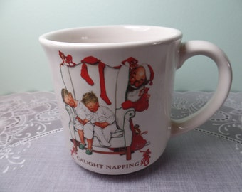 Vintage Mug: Norman Rockwell Christmas Mug