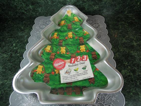 Vintage Wilton Holiday Tree Cake Pan Wilton Holiday Tree