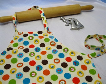 Polka Dots, Cupcakes and Apples Child Apron