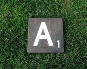 LARGE Scrabble Tiles - Solid Wood - Wedding Table Numbers