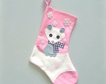 Opposum Personalized Christmas Stocking by Allenbrite Studio