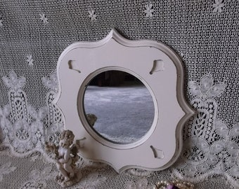 French Country Mirror, Shabby and chic, Painted Vintage,