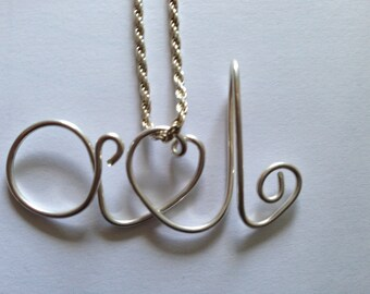 a loves l, Lovers necklace, etsy jewelry, Lilyb444
