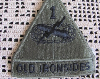 Old Ironsides Military Patch Vietnam War Era