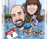 Funny Wedding Save the Date Cards and Magnets, Invitations - Custom Caricature from Your Photos