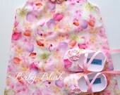 Pink Floral Lace Collar Vintage A-line Dress Shoes Set