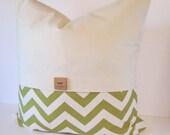 Unique Chevron Decorative Pillow Cover with Button and Drill Fabric