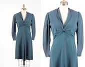 1940s dress/ 40s crepe rayon/ small