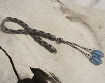 Vintage Sterling Silver Bracelet Sterling Blue Bead Jewelry