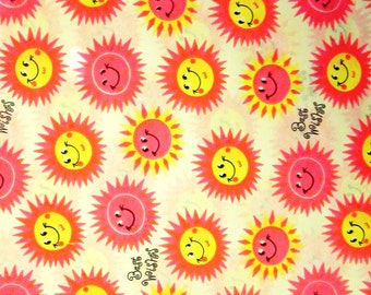Vintage Wrapping Paper -Sunny Best Wishes Gift Wrap - One Full sheet - Carrington