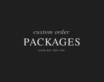 Packages / Bundles / Discounts ( Custom Order )