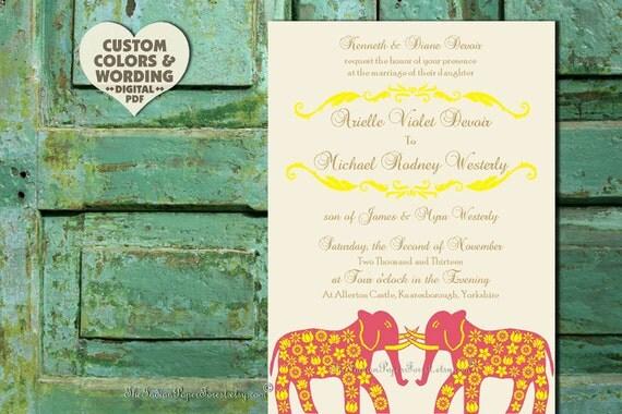 PRINTABLE Indian Wedding Program Custom Design Pdf GRAND ELEPHANT Diy Paper Good Decor Template Destination Order of Service Ceremony Cheap