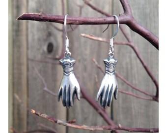 Graceful Dangling Hand Earrings