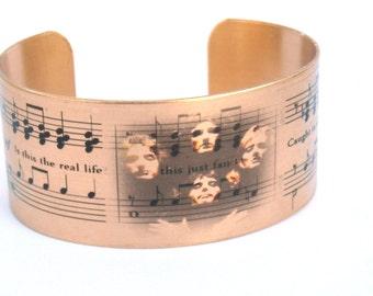 Queen Bohemian Rhapsody music cuff bracelet