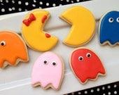 Pac Man 80's Cookies - 1 DOZEN