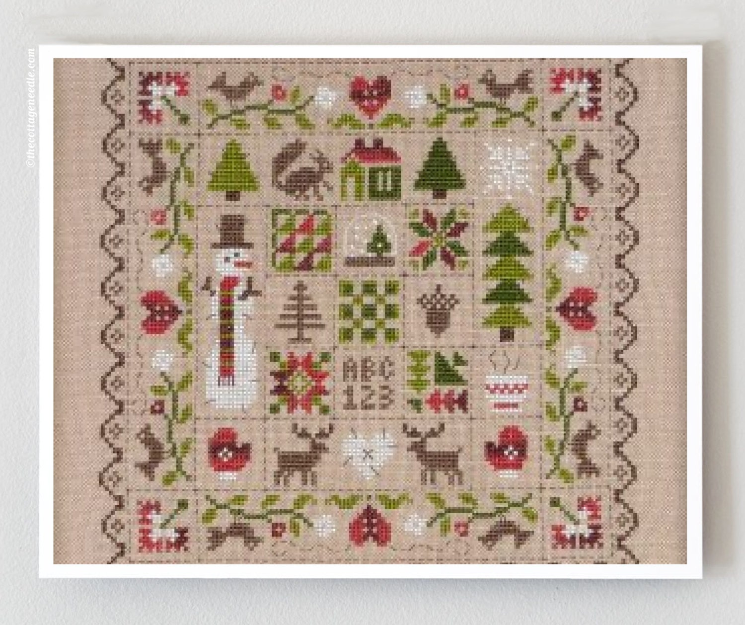 Patchwork hiver counted cross stitch patterns jardin prive for Jardin prive