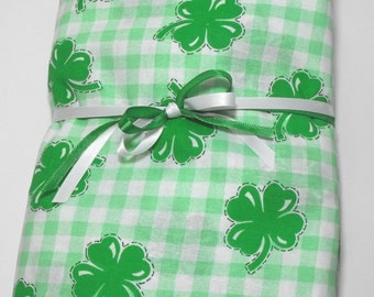 Shamrocks Toddler Bedding or Crib Bedding Fitted St. Patrick's