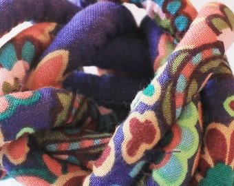 Designer handmade fabric covered necklace cord, jewelry supply, textile jewelry, fabric jewelry, pendant cord mc49