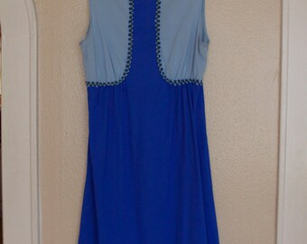 blue 60s nightgown or dress