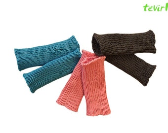ARM WARMERS - Toddler -1, 2, 3, 4, 5  years 100% MERINO wool knit baby mittens