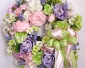 Spring Wreath, Mother's Day Wreath, Pastel Wreath, Summer Wreath, Lavender Wreath