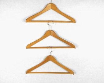 Vintage Suit/Trouser Hangers Wooden West Germany Rustic Cabin