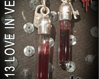 LOVE IN VEIN™ - Original blood vial kit - 2014 Sterling Silver Range: Style - Original. Now includes Anticoagulant Inactive