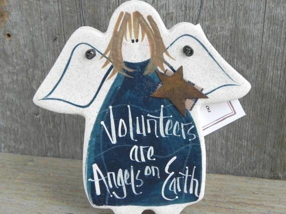 Volunteer Gift Angel Hanging Salt Dough Ornament Volunteer Appreciation Thank You Gift