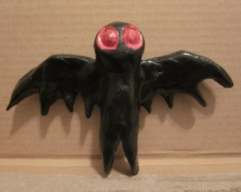 Black Mothman Magnet