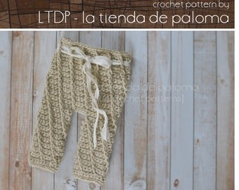 INSTANT DOWNLOAD - Crochet Baby Pants Pattern - Crochet Spiral Pants - Crochet Pants - Crochet Pattern