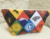 Game of Thrones House Sigils Small Makeup Bag Cosmetic Bag Toiletry Bag