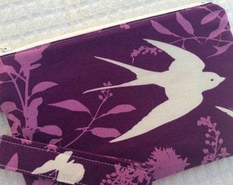 Purple Sparrows Wristlet 2