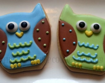 Colorful Owl Cookies 2 dozen
