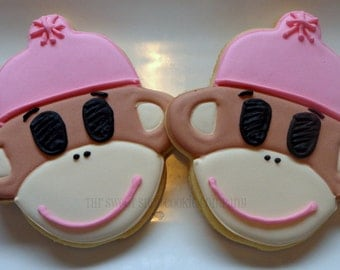 Sock Monkey Cookies 2 dozen