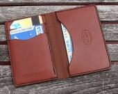 Mens Wallet, minimalist leather wallet, men's wallet, simple wallet,  handmade wallet, leather wallet, chestnut brown leather, garny No.5