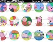 Buy ONE get FOUR FREE Peppa Pig 1 Inch Bottecap Images 4x6 Sheet