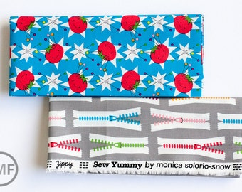 Fat Quarter Bundle Sew Yummy, 2 Pieces, Monica Solorio-Snow, 100% GOTS-Certified Organic Cotton, Cloud9 Fabrics