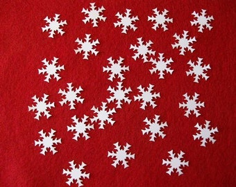25 White Die Cut Snowflakes