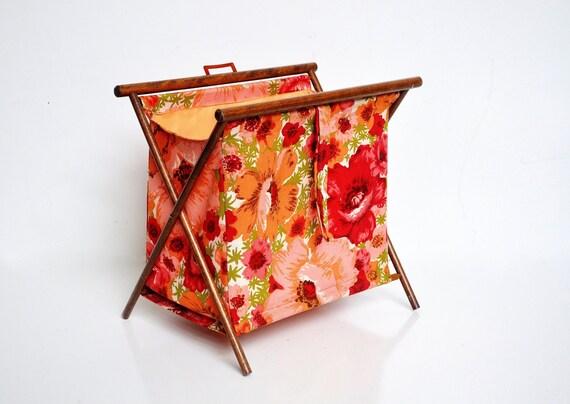 Vintage Folding Knitting Basket : Vintage folding knitting basket